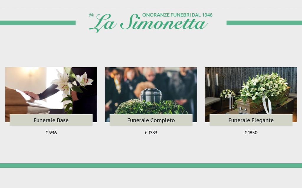 pacchetti e costi per organizzare un funerale con onoranze funebri la simonetta