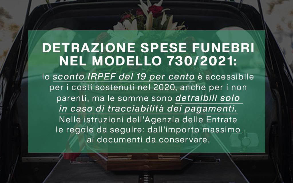 modello 730 per la detrazione delle spese funebri